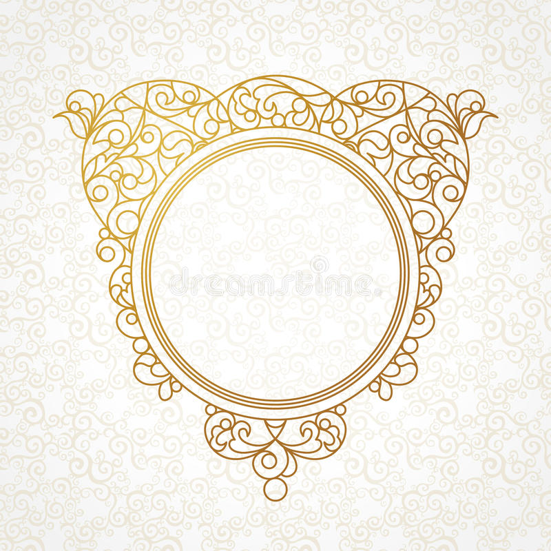 Vector la línea decorativa marco del arte en estilo del este ilustración del vector