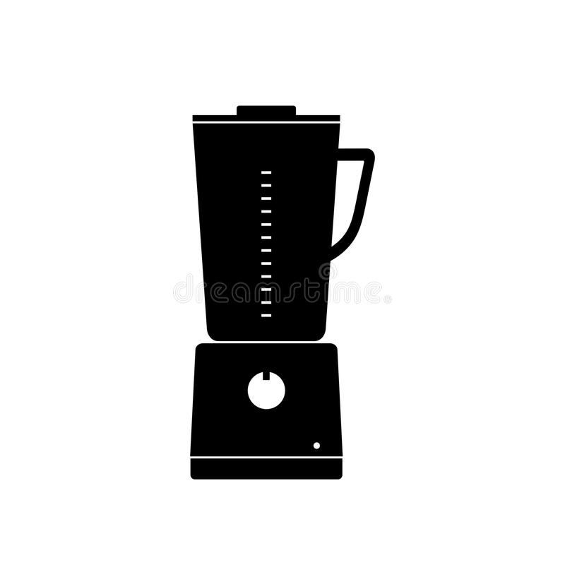 Vector la licuadora inmóvil de la cocina del icono para mezclar y moler f libre illustration