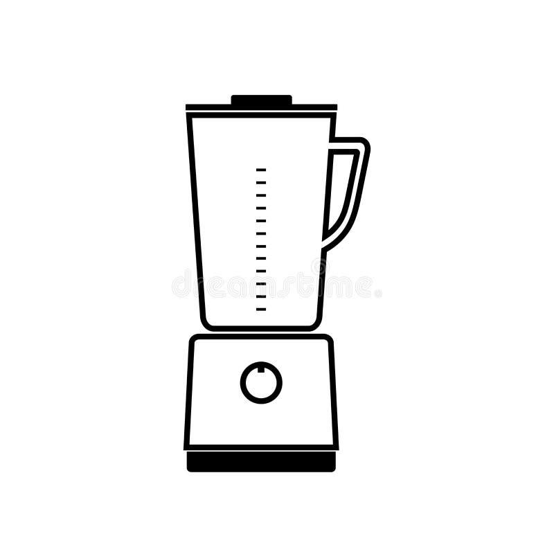 Vector la licuadora inmóvil de la cocina del icono para mezclar y moler f stock de ilustración