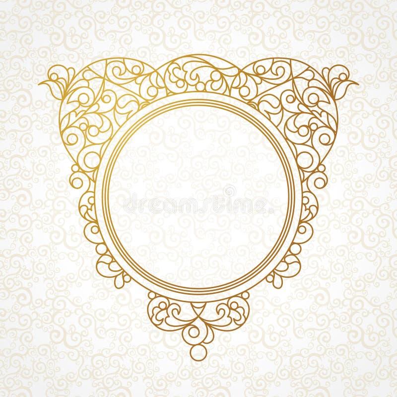 Vector la linea decorativa struttura di arte nello stile orientale illustrazione vettoriale
