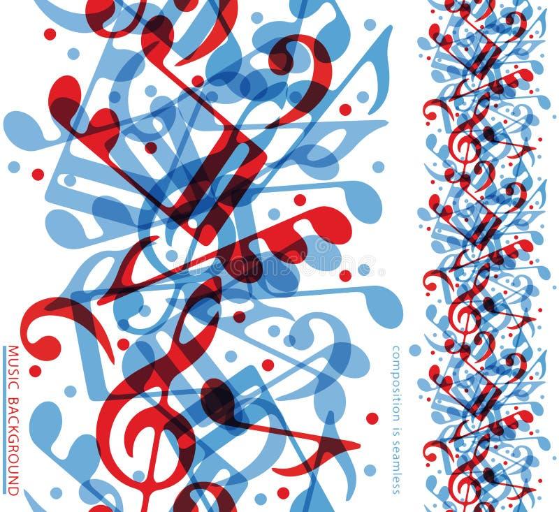Vector la lona vertical colorida de la música, cinta inconsútil con aquati ilustración del vector