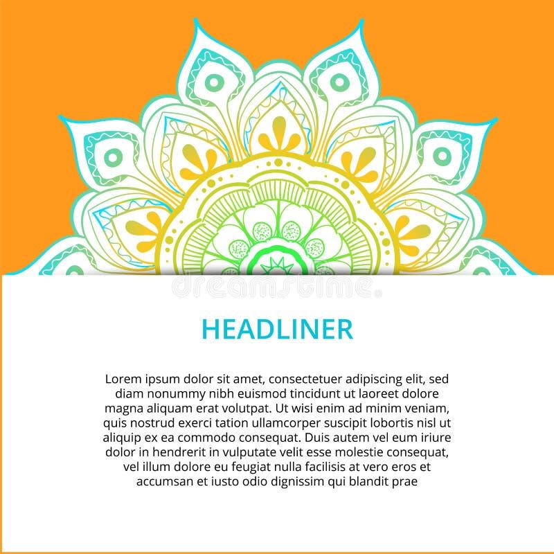 Vector la mandala ornamentale, modello rotondo stampabile con molti dettagli Motivo arabo, indiano, asiatico, africano per accogl royalty illustrazione gratis
