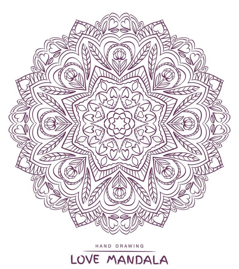Vector La Mandala Para Colorear Con Los Elementos Decorativos De Las ...