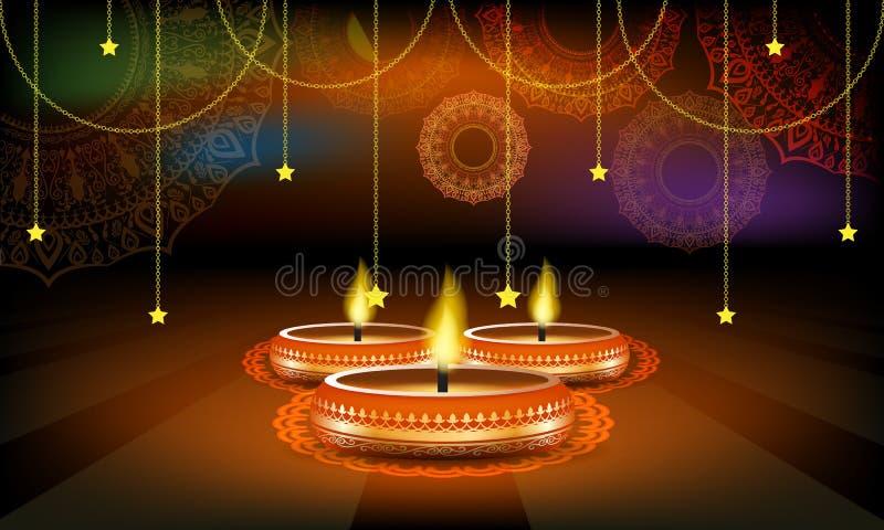 Vector la plantilla de la disposición del cartel o del aviador o del anuncio de la venta del festival de Diwali ilustración del vector
