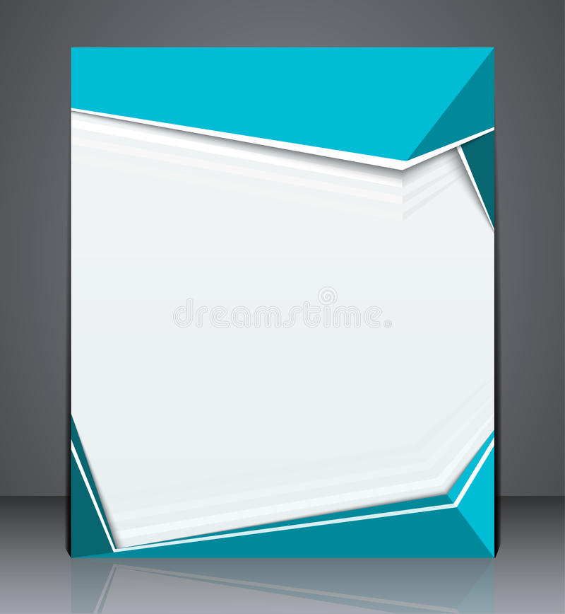 Vector la plantilla de la disposición de diseño del aviador del folleto del negocio, diseño de la cubierta en colores azules ilustración del vector