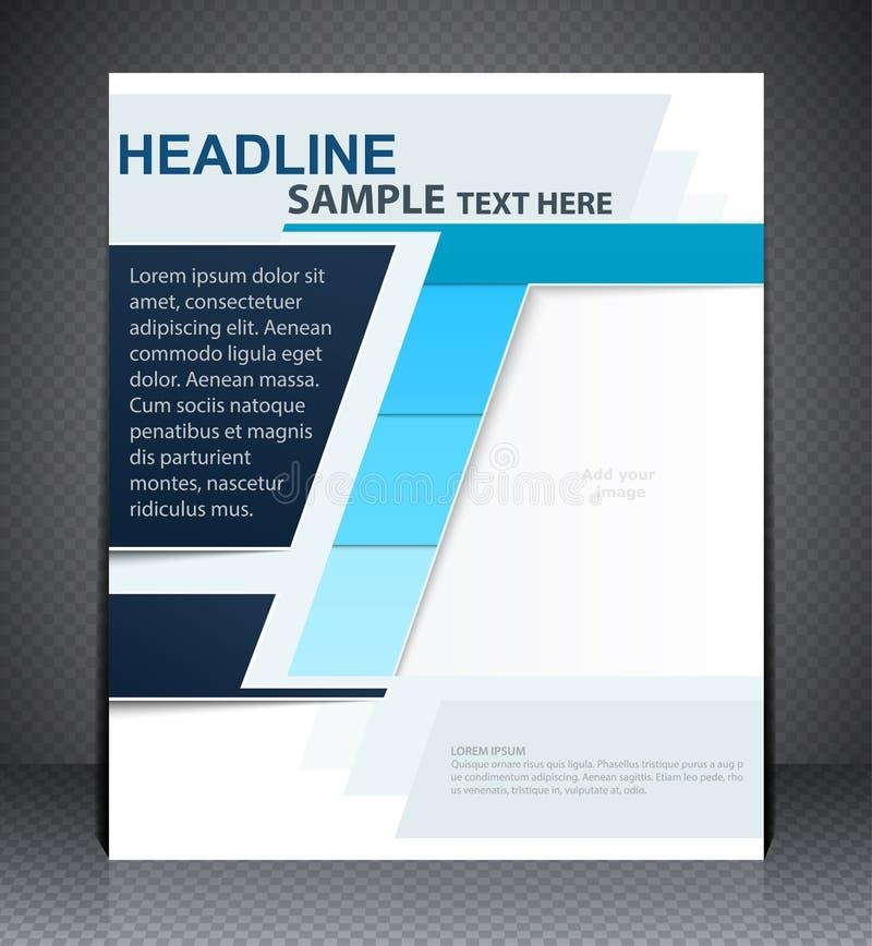 Vector la plantilla de la disposición de diseño del aviador del folleto en colores azules ilustración del vector