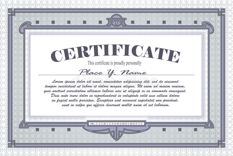 Vector La Plantilla Para El Diseño De Certificado, De Anuncios, De ...