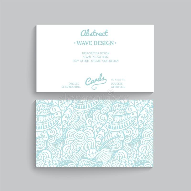 Vector la plantilla simple de la tarjeta de visita con el ornamento decorativo, stock de ilustración