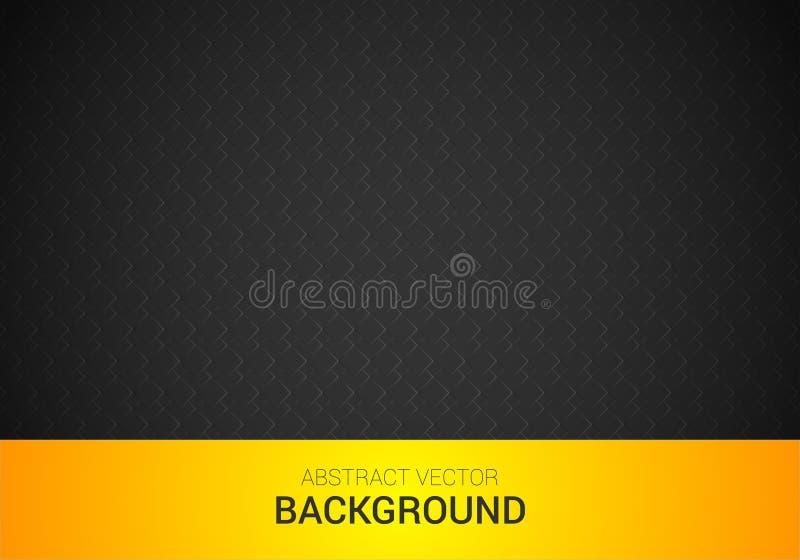 Vector la progettazione corporativa grigio scuro e gialla astratta del fondo immagini stock libere da diritti