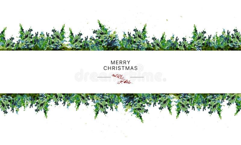 Vector la progettazione di pacchetto senza cuciture artistica per i presente di Buon Natale e del nuovo anno & farcisca la decora illustrazione vettoriale