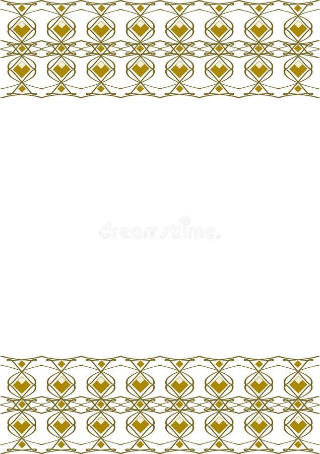 Vector la progettazione, i diamanti gialli fra le curve ed i colpi illustrazione di stock
