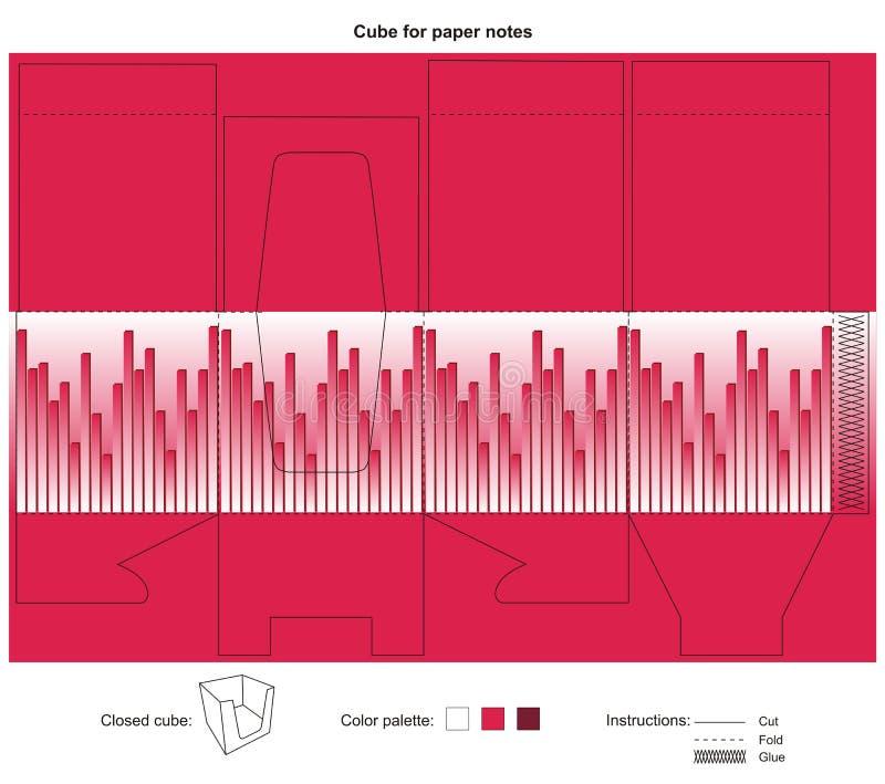 Vector la progettazione per il cubo accessibile facile per le note illustrazione vettoriale