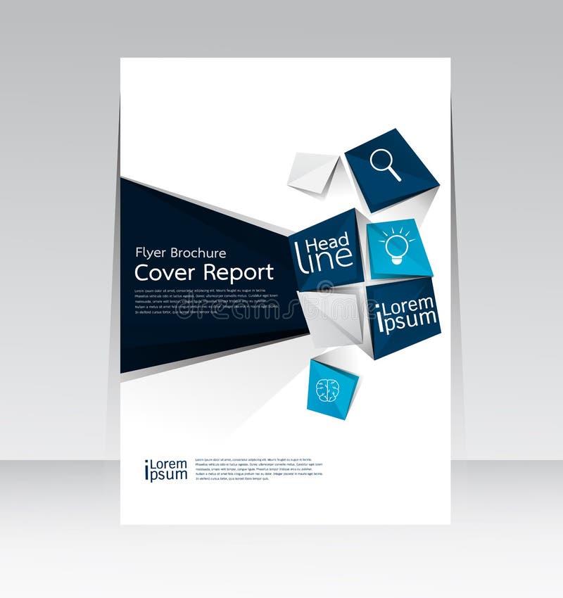 Vector la progettazione per il manifesto annuale dell'aletta di filatoio rapporto della copertura nella dimensione A4 illustrazione vettoriale