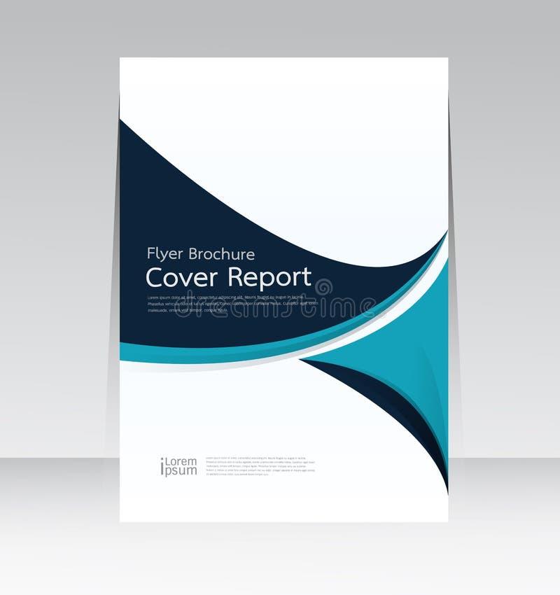 Vector la progettazione per il manifesto annuale dell'aletta di filatoio rapporto della copertura nella dimensione A4 illustrazione di stock