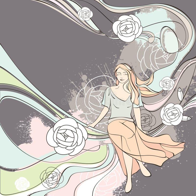Vector la scheda romantica dell'illustrazione illustrazione di stock