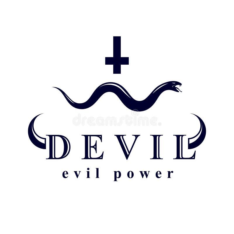 Vector la serpiente venenosa creada con un símbolo cruzado religioso E libre illustration