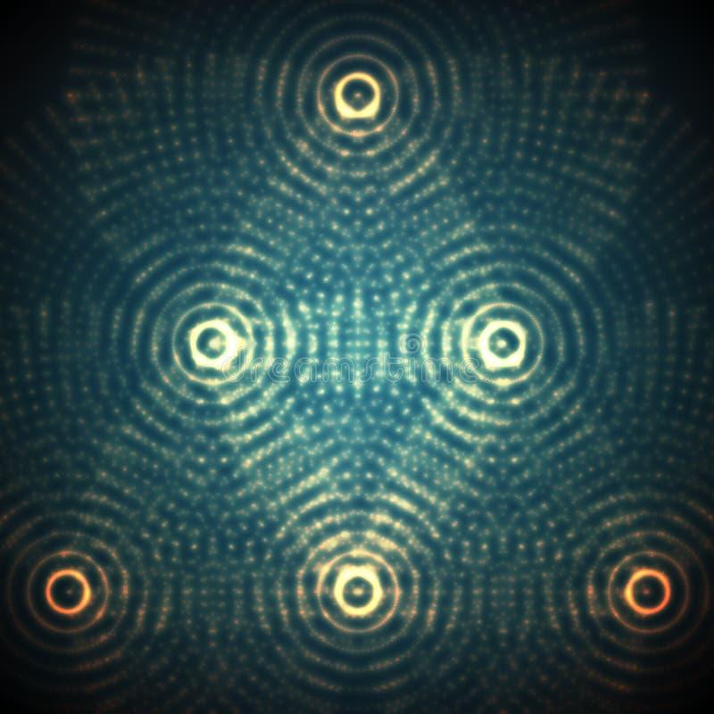 Vector la sfera astratta delle particelle, matrice dei punti Illustrazione futuristica di vettore Spruzzata digitale di tecnologi illustrazione vettoriale