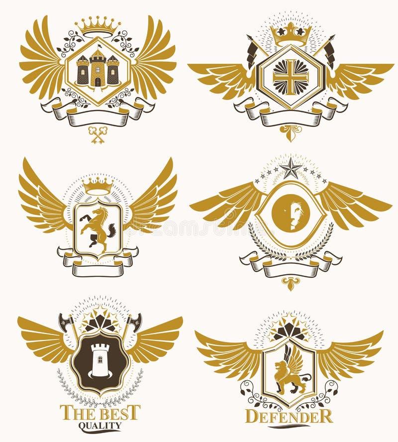 Vector la stemma araldica d'annata progettata nello stile del premio Me royalty illustrazione gratis