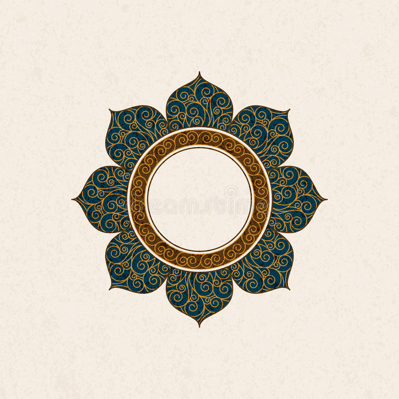 Vector la struttura d'annata araba sotto forma di una struttura con la decorazione variopinta illustrazione di stock