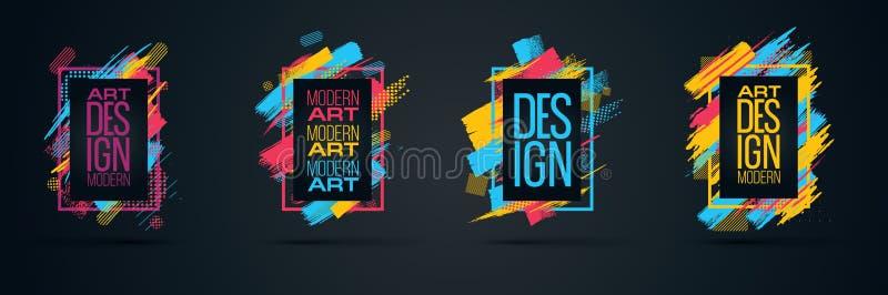 Vector la struttura per i grafici di arte moderna del testo per i pantaloni a vita bassa fotografie stock libere da diritti