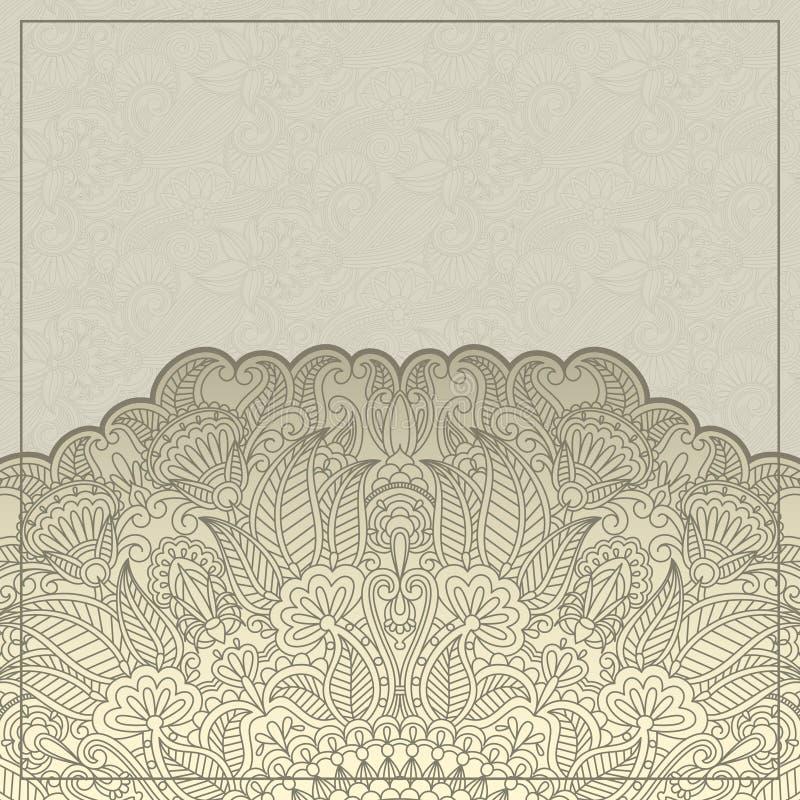 Vector la tarjeta de felicitación. stock de ilustración