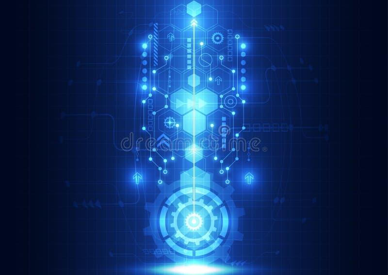 Vector la tecnología futura de la ingeniería abstracta, fondo eléctrico de las telecomunicaciones