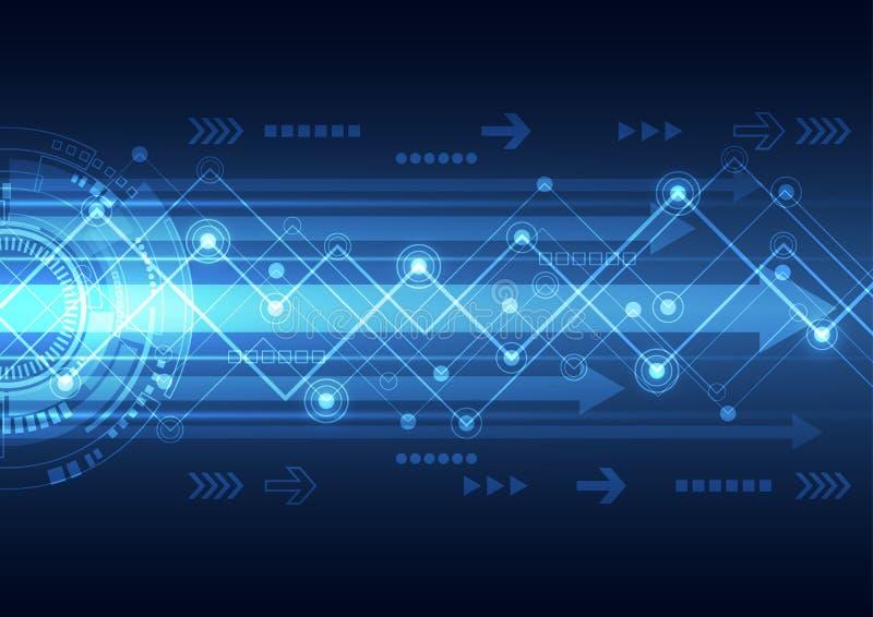 Vector la tecnología futura de las telecomunicaciones de la red, fondo abstracto stock de ilustración