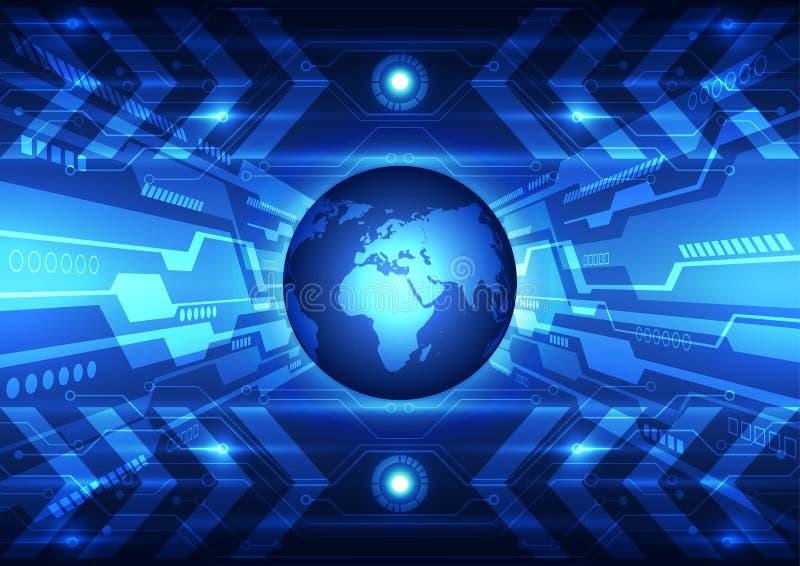 Vector la tecnologia futura globale astratta, fondo elettrico delle Telecomunicazioni royalty illustrazione gratis