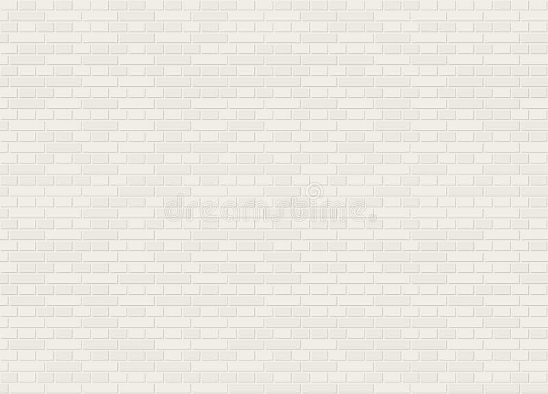 Vector la textura blanca de la pared de ladrillo del enlace inglés inconsútil de la obra clásica stock de ilustración