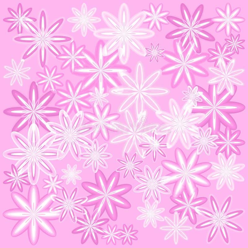 Vector la textura de flores rosadas delicadas con un marco ligero para f stock de ilustración