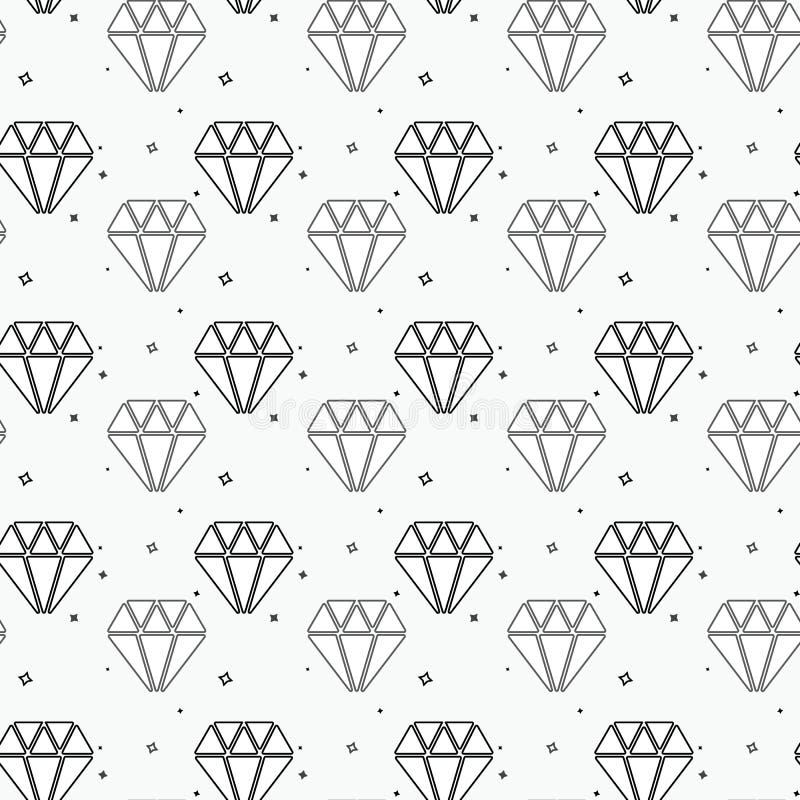 Vector la textura geométrica con las pequeñas formas del diamante, Rhombus minúsculos, cuadrados Modelo inconsútil moderno abstra stock de ilustración