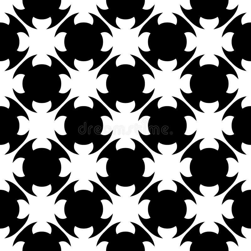 Vector la textura inconsútil del modelo, negra y blanca ilustración del vector