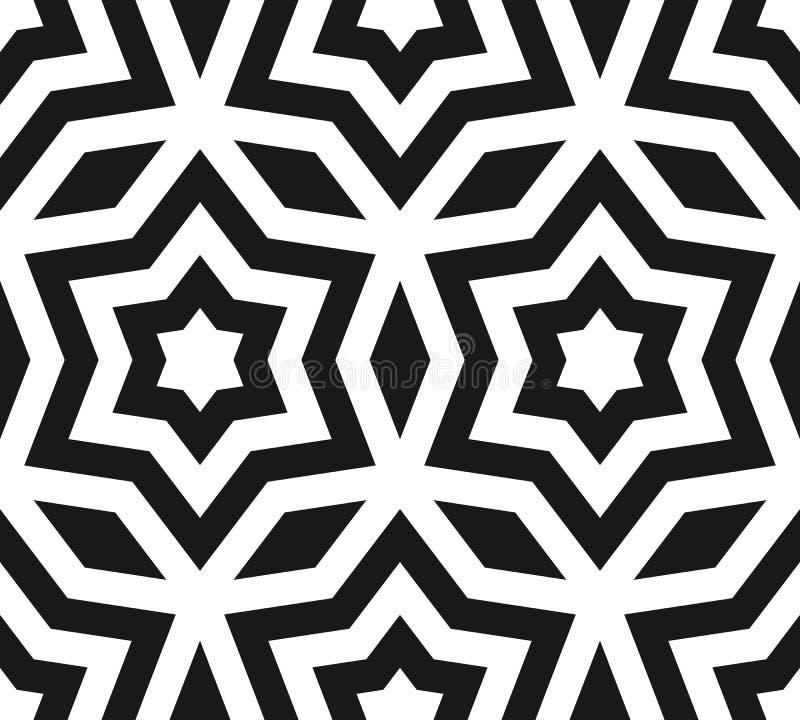Vector la textura inconsútil del modelo, negra y blanca del ornamento con lin libre illustration