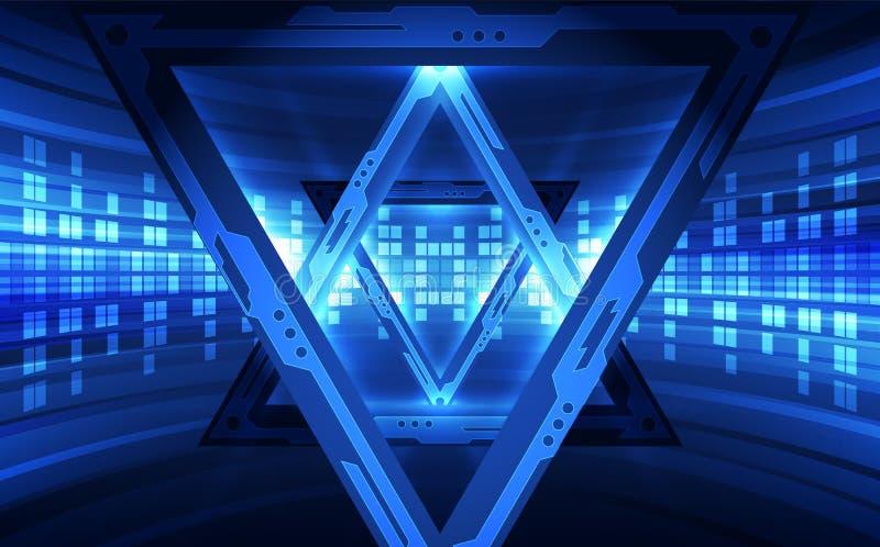 Vector la velocidad futurista abstracta, alto color del azul de la tecnología digital del ejemplo ilustración del vector