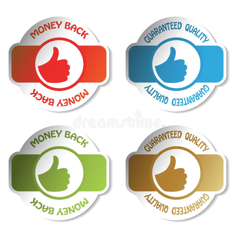 Vector Label - guaranteed quality. Label - money back and guaranteed quality - vector illustration vector illustration