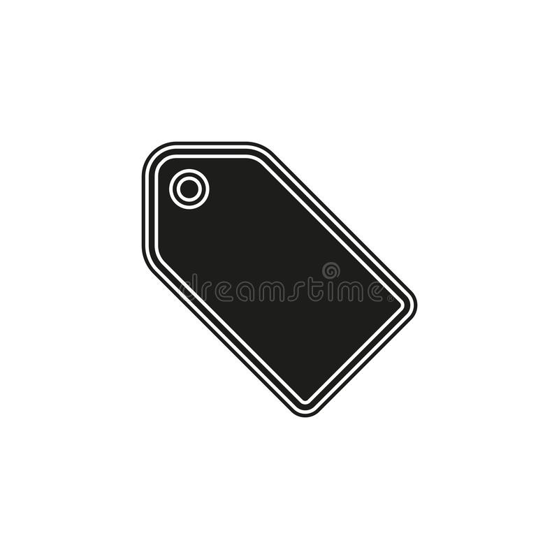 vector label tag symbol. discount element, coupon tag with label stock illustration