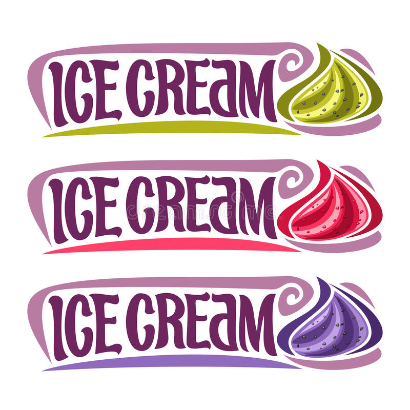 Vector labels for Ice Cream stock illustration