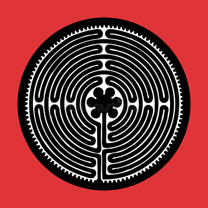 Vector labyrint stock illustratie