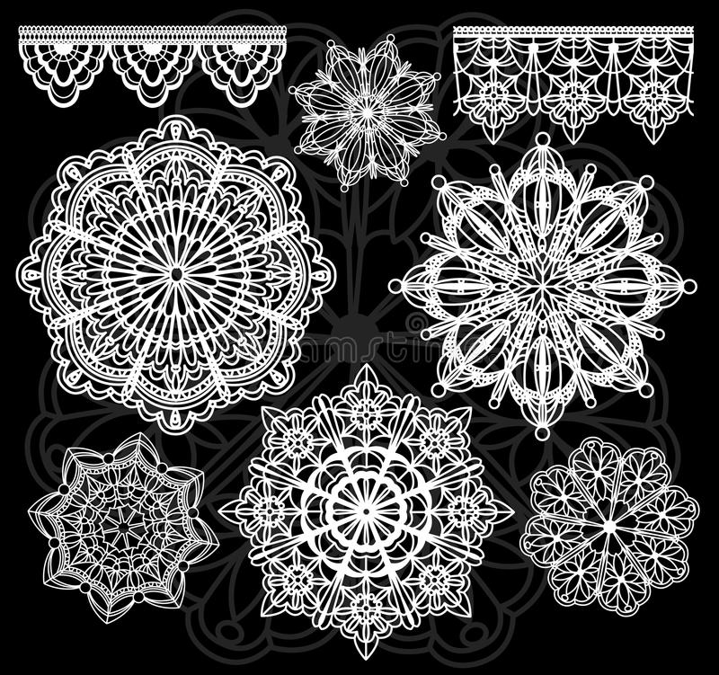 Download Vector lace stock vector. Image of fabric, shape, linen - 13600104