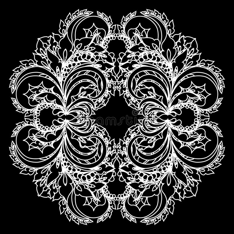 Vector lace vector illustration