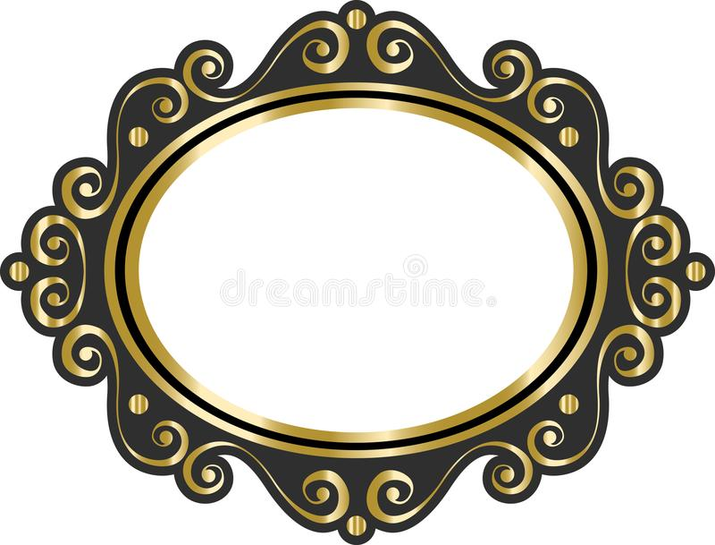 vector lace blank vintage cartoon photo picture frame stock vector rh dreamstime com