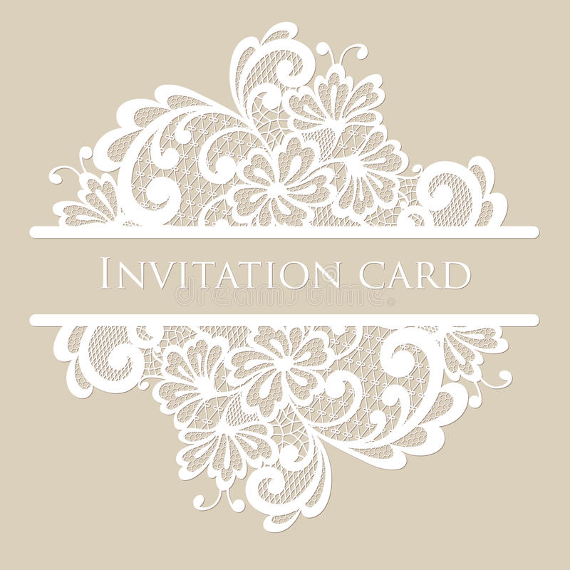 Vector lace card royalty free illustration