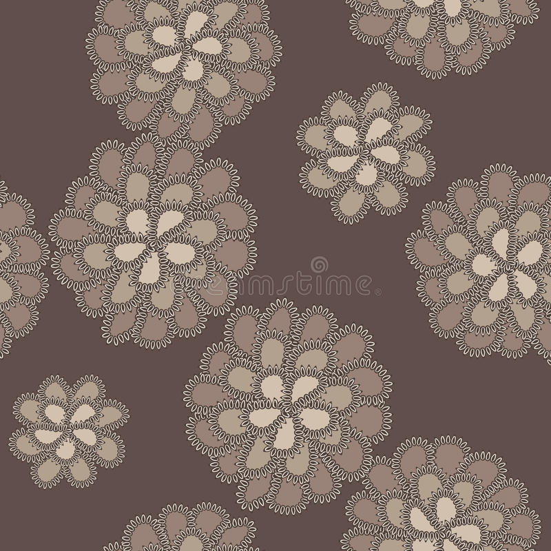 Vector lace floral pattern vector illustration