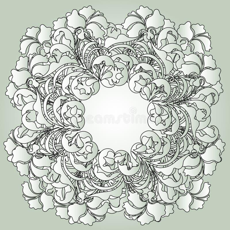 Vector lace pattern stock illustration