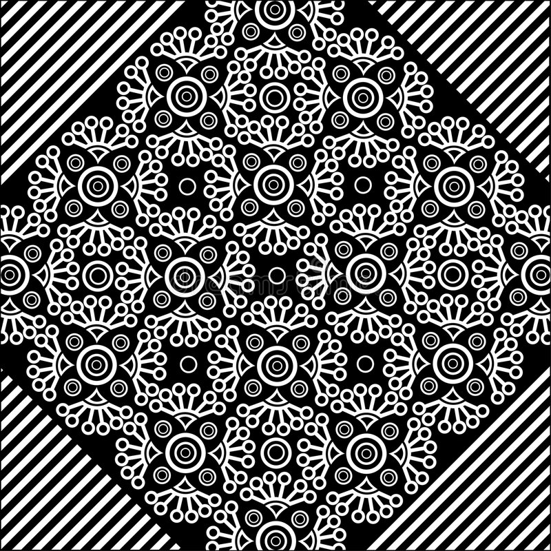 Vector lace pattern vector illustration