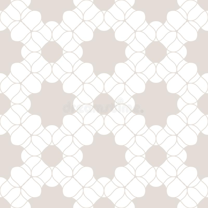 Vector lace seamless pattern. Subtle beige and white floral background texture. Vector lace seamless pattern. Subtle beige and white floral texture. Abstract stock illustration