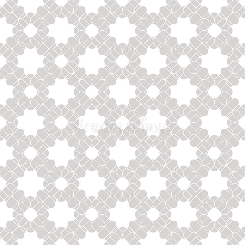 Vector lace seamless pattern. Subtle white and gray floral background texture vector illustration