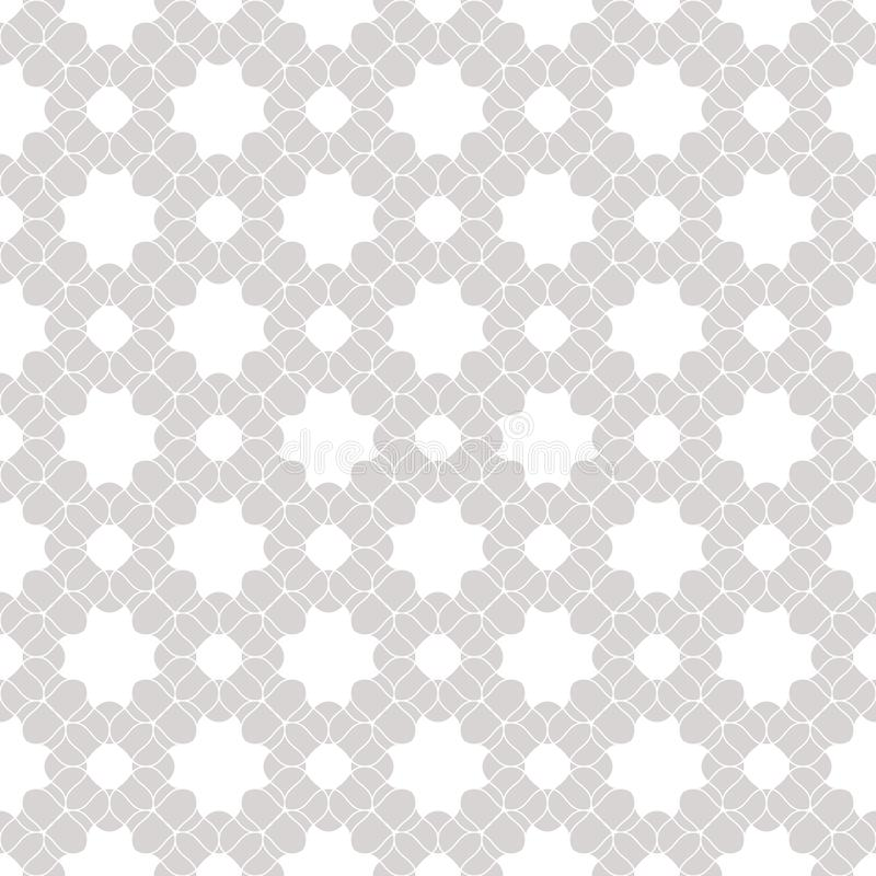 Vector lace seamless pattern. Subtle white and gray floral background texture. Vector lace seamless pattern. Subtle white and gray floral texture. Abstract stock illustration