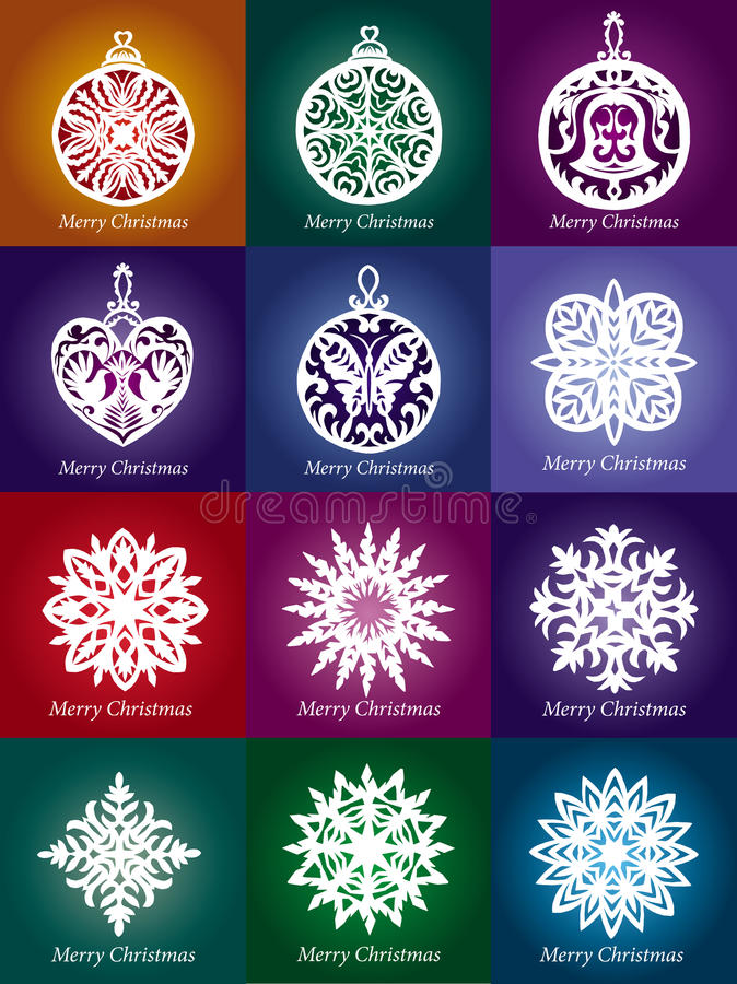 Vector lacy snowflake Christmas decoration stock illustration
