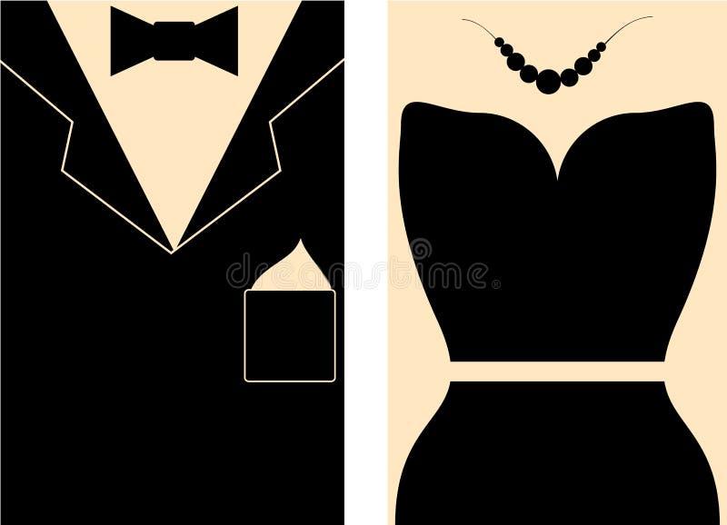 Vector Ladies And Gentlemen Toilet Wc Or Restroom Sign In Retro Style Figures With Accessories